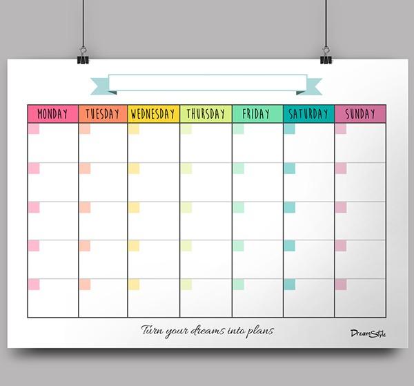 Free Printable Monthly Planner Calendar