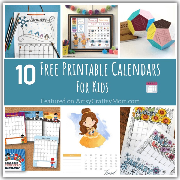 Free Printable Photo Calendar 10 Free Printable Calendar Pages for Kids