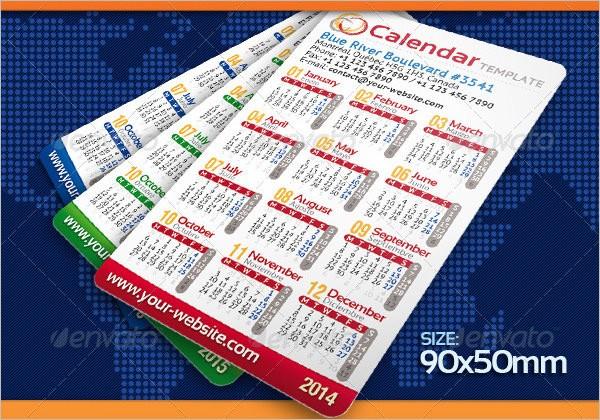 23 Pocket Calendar Templates Free PSD Vector EPS PNG