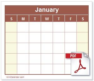 Printable 2020 Calendar Pdf 2019 Calendar Pdf Free and Printable Pdf Calendar