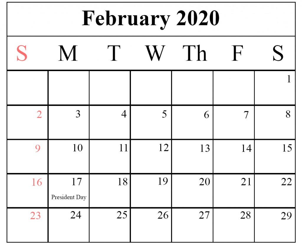 Printable 2020 Calendar Pdf Free Printable Yearly Calendar 2020 Template [pdf and Word