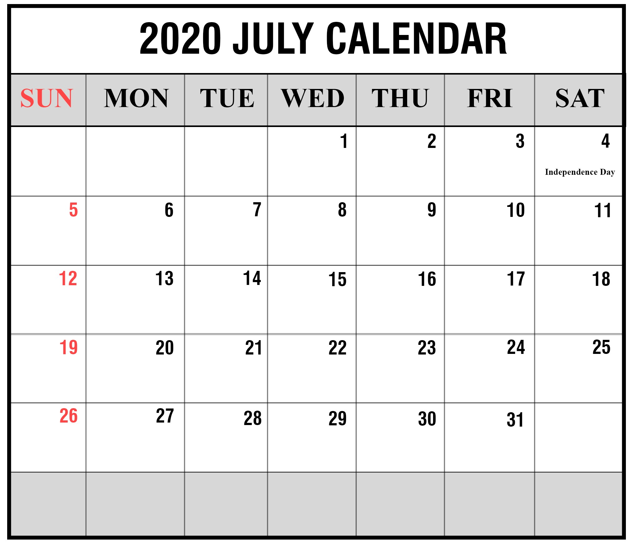 Printable 2020 Calendar Pdf Printable Yearly Calendar 2020 Template with Holidays [pdf