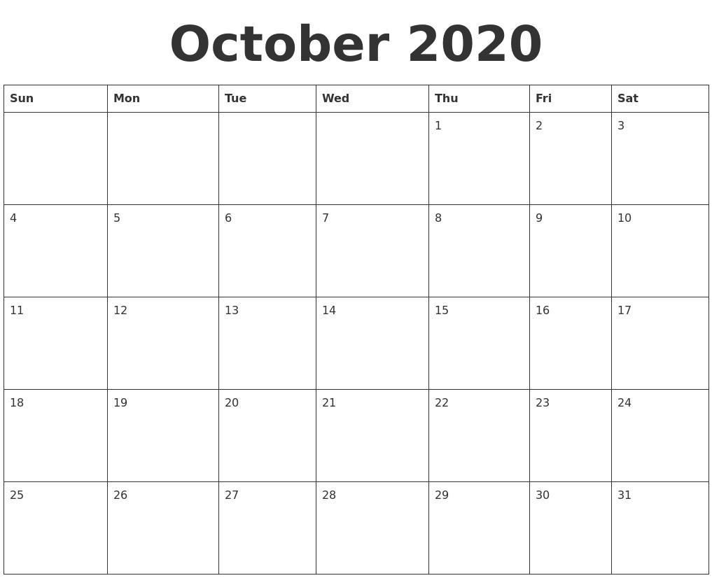 Printable Blank 2020 Calendar February 2020 Calendar Template
