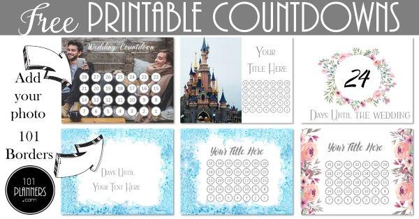 FREE Printable Countdown Calendar Template