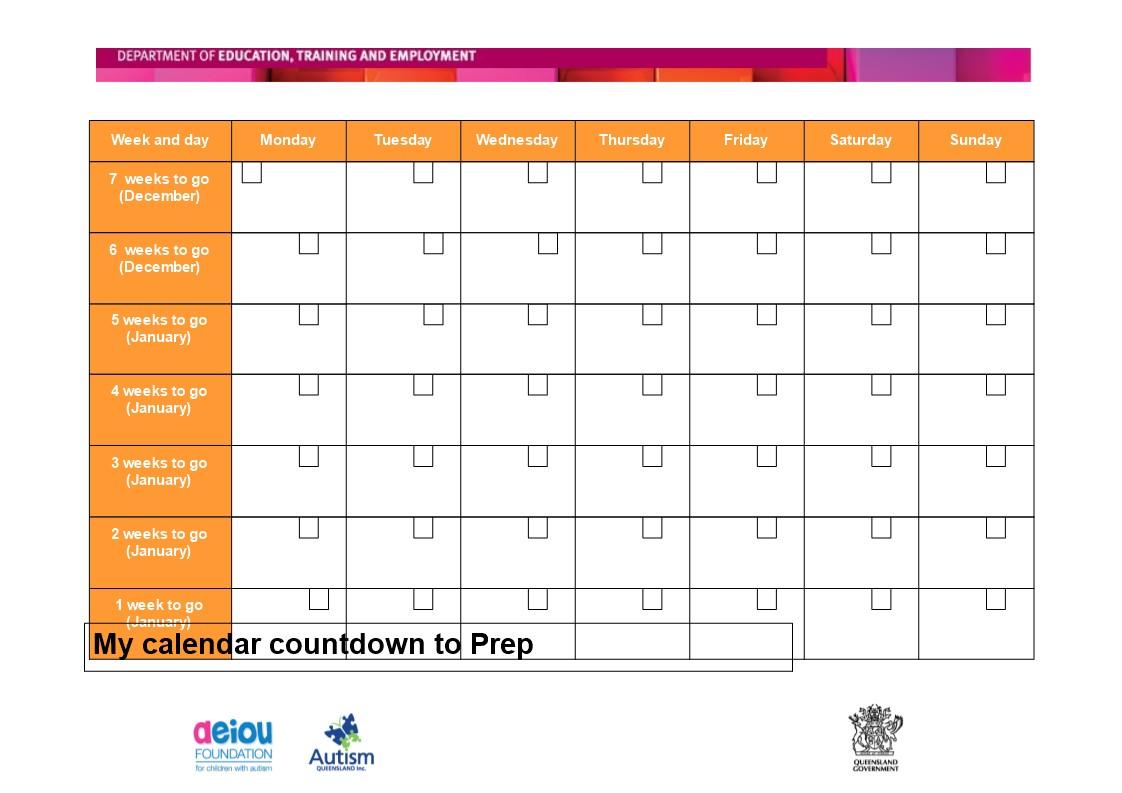 Printable Calendar Countdown