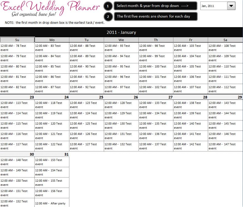 Wedding Planning Calendar Printable