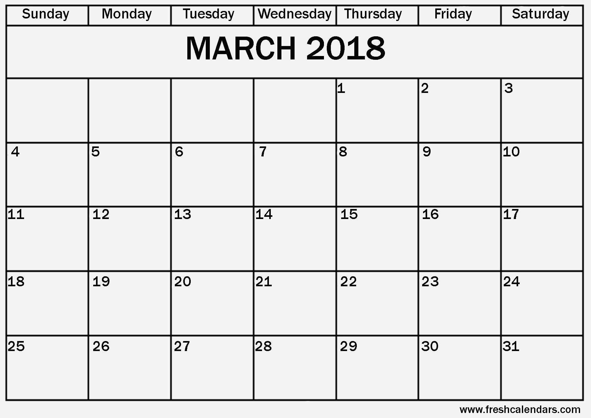 March Calendar Templates Mejores Y Más Novedosos Excel