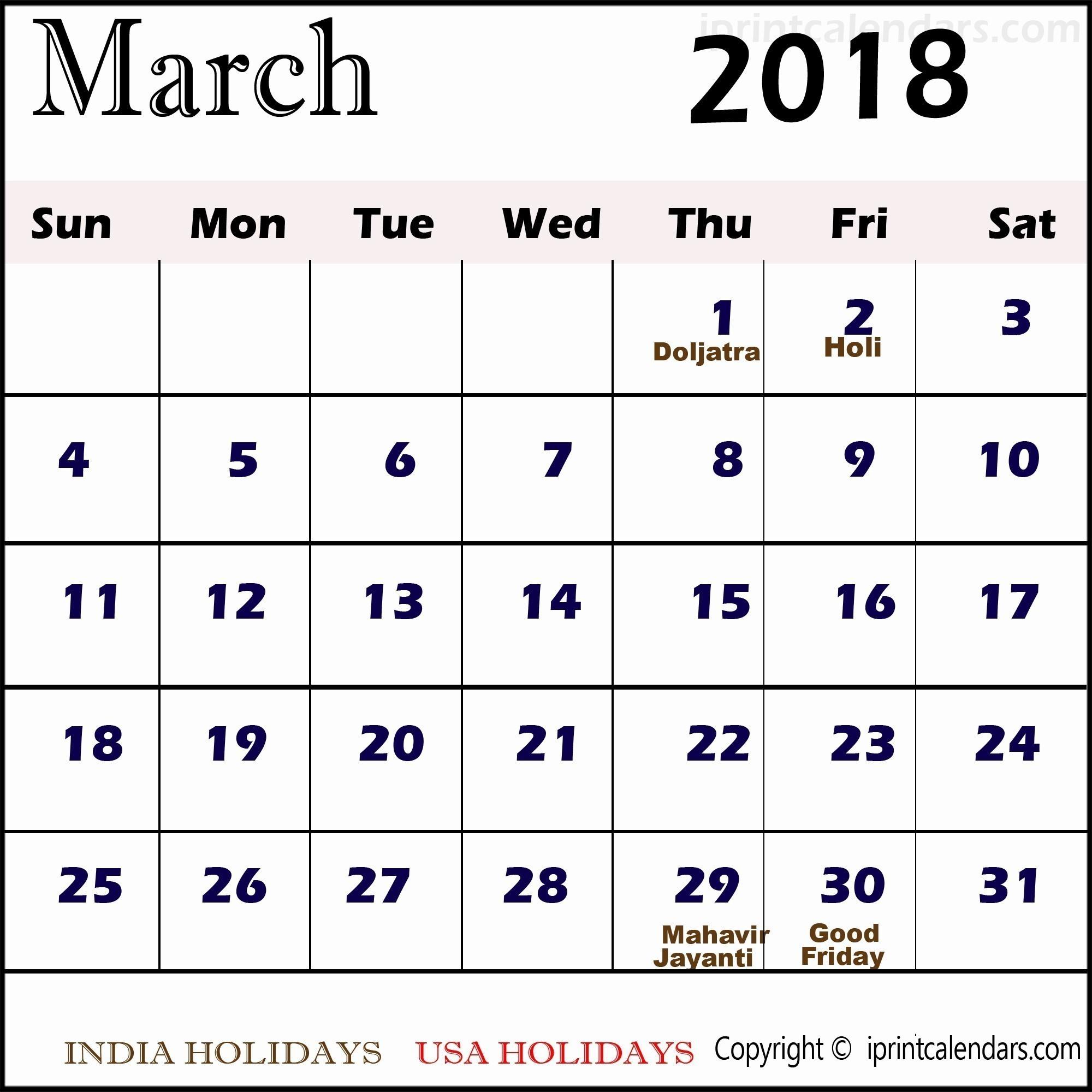 March Calendar Free Printable Recientes Knowledge