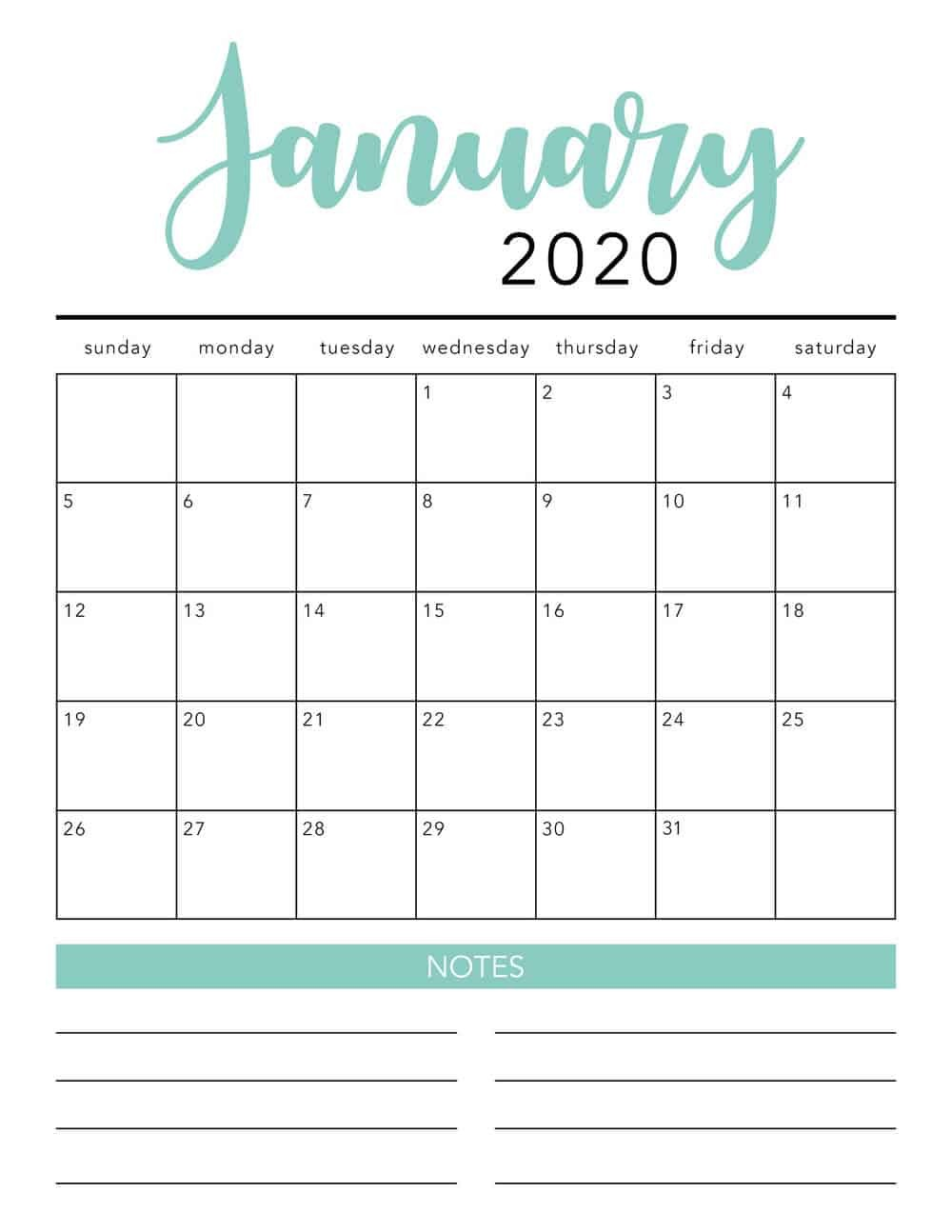 Printable Montly Calendar