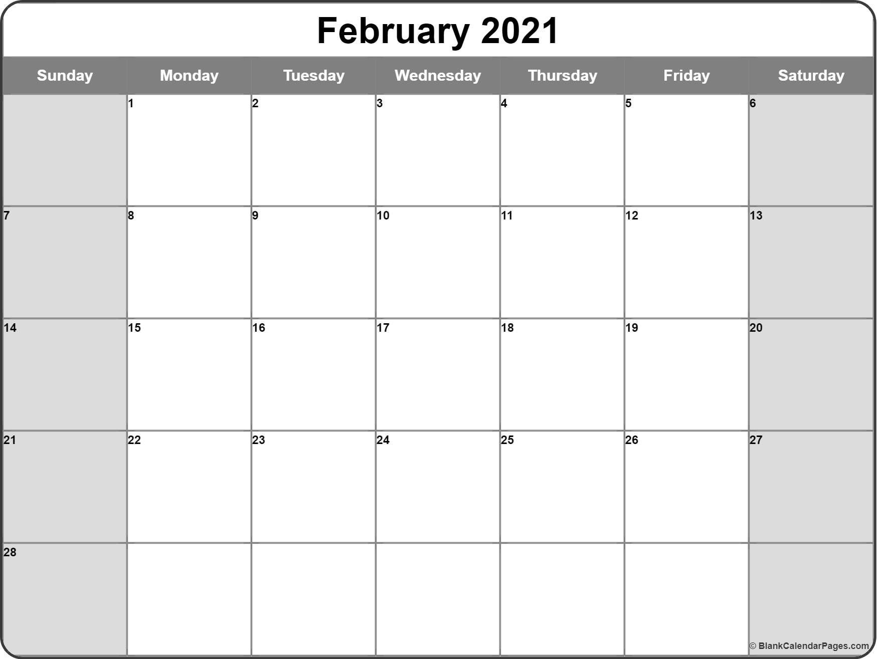 Free Printable Monthly Calendar 2021 Monthly – Wel e to