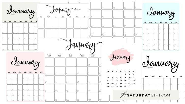 Blank Printable January 2021 Calendar Week Numbers