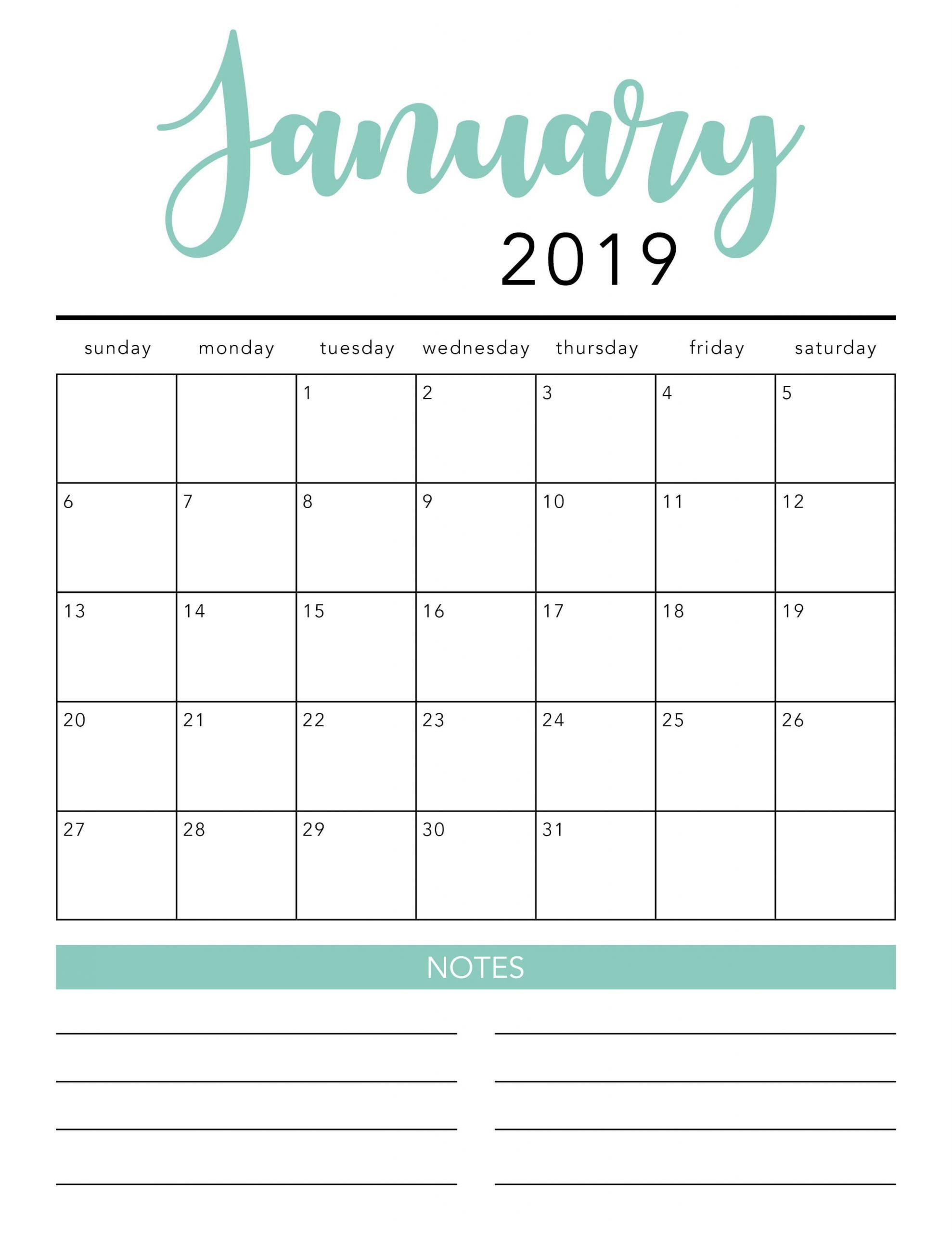 FREE 2021 Printable Calendar Template 2 colors I Heart