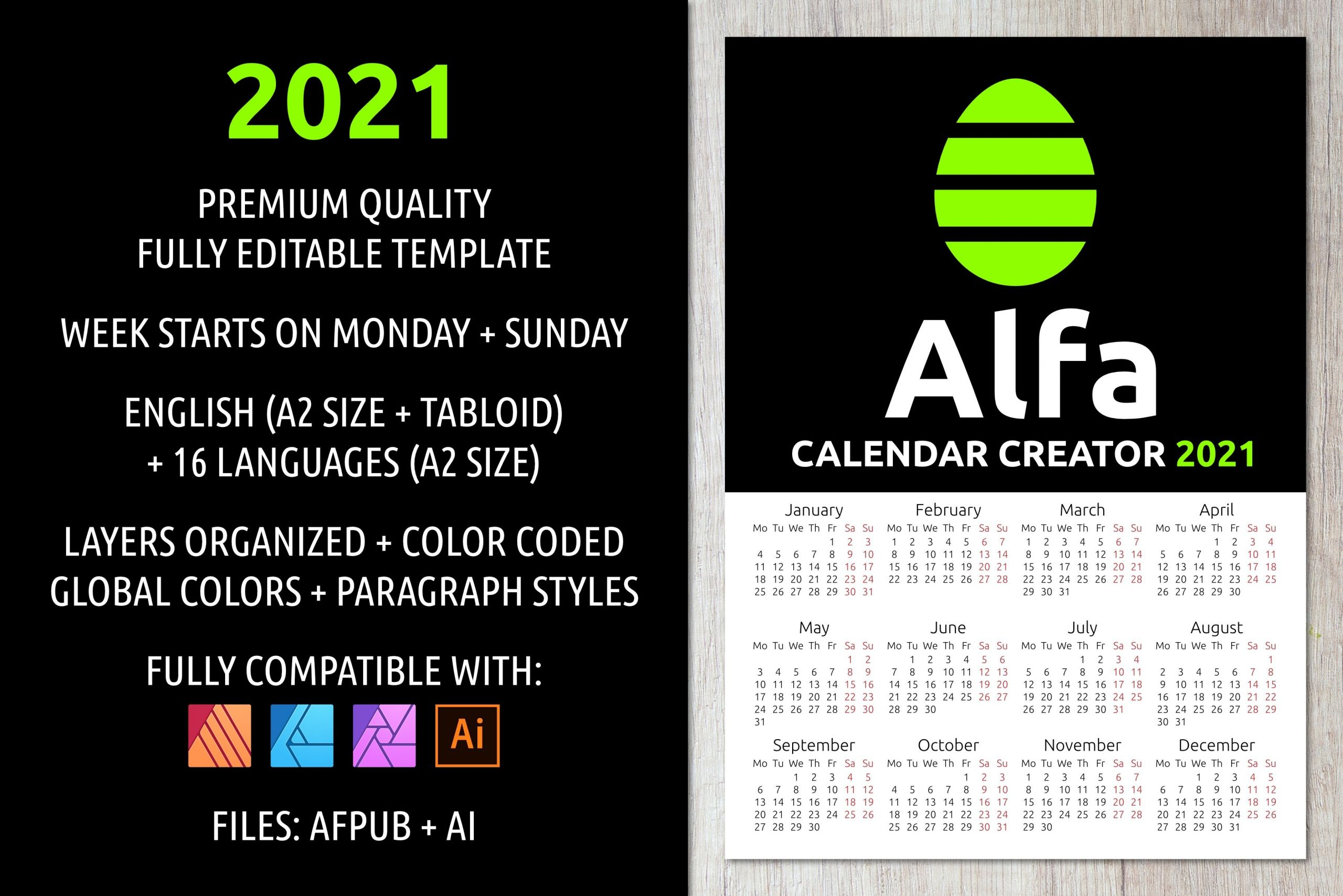 Alfa Calendar Creator 2021