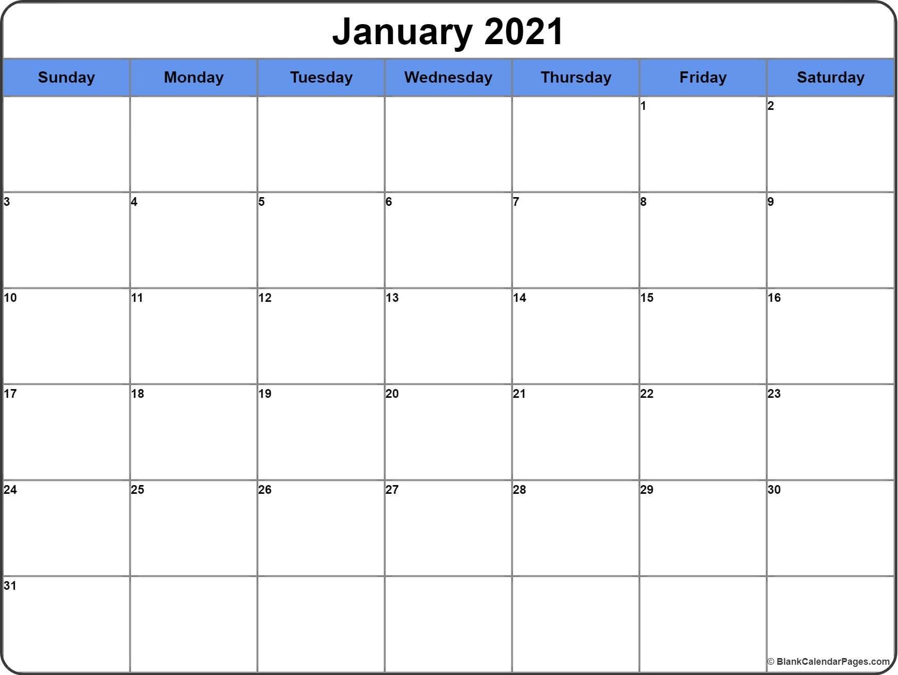 Printable Calendar 2021 Pdf for Agenda