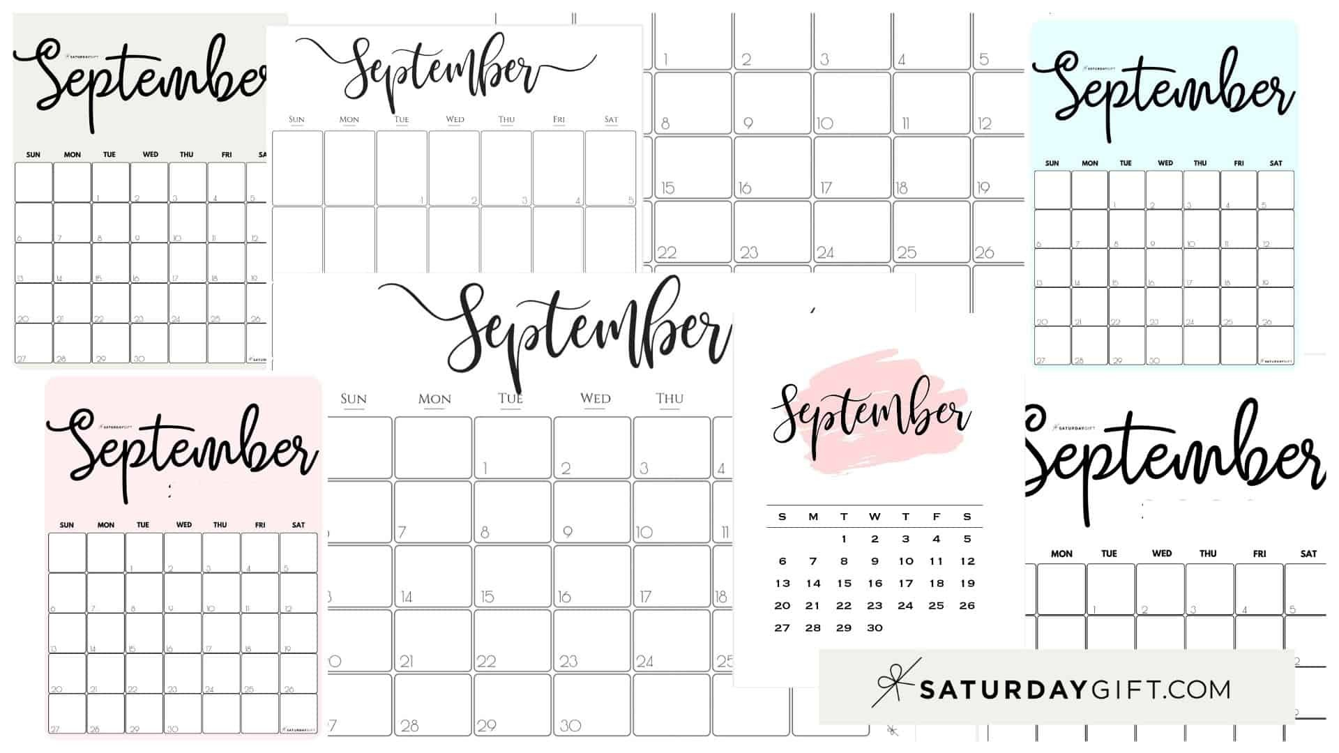 Cute & Free Printable September 2021 Calendar