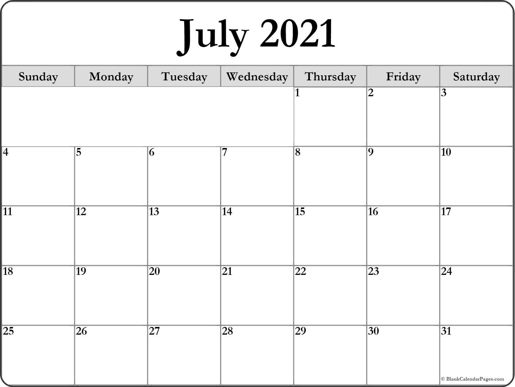 Weekly Calendar Template 2021 Blank for Agenda