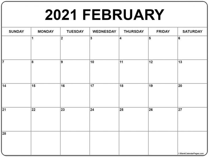 2021 February Editable Calendar