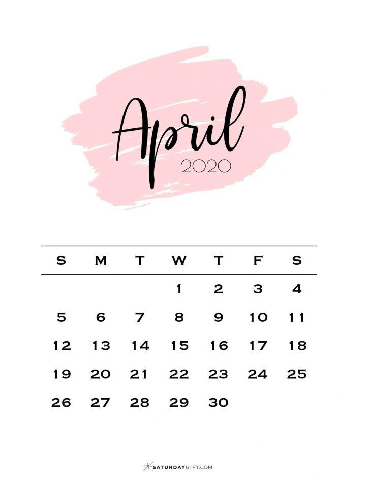 April Calendar 2021 Template