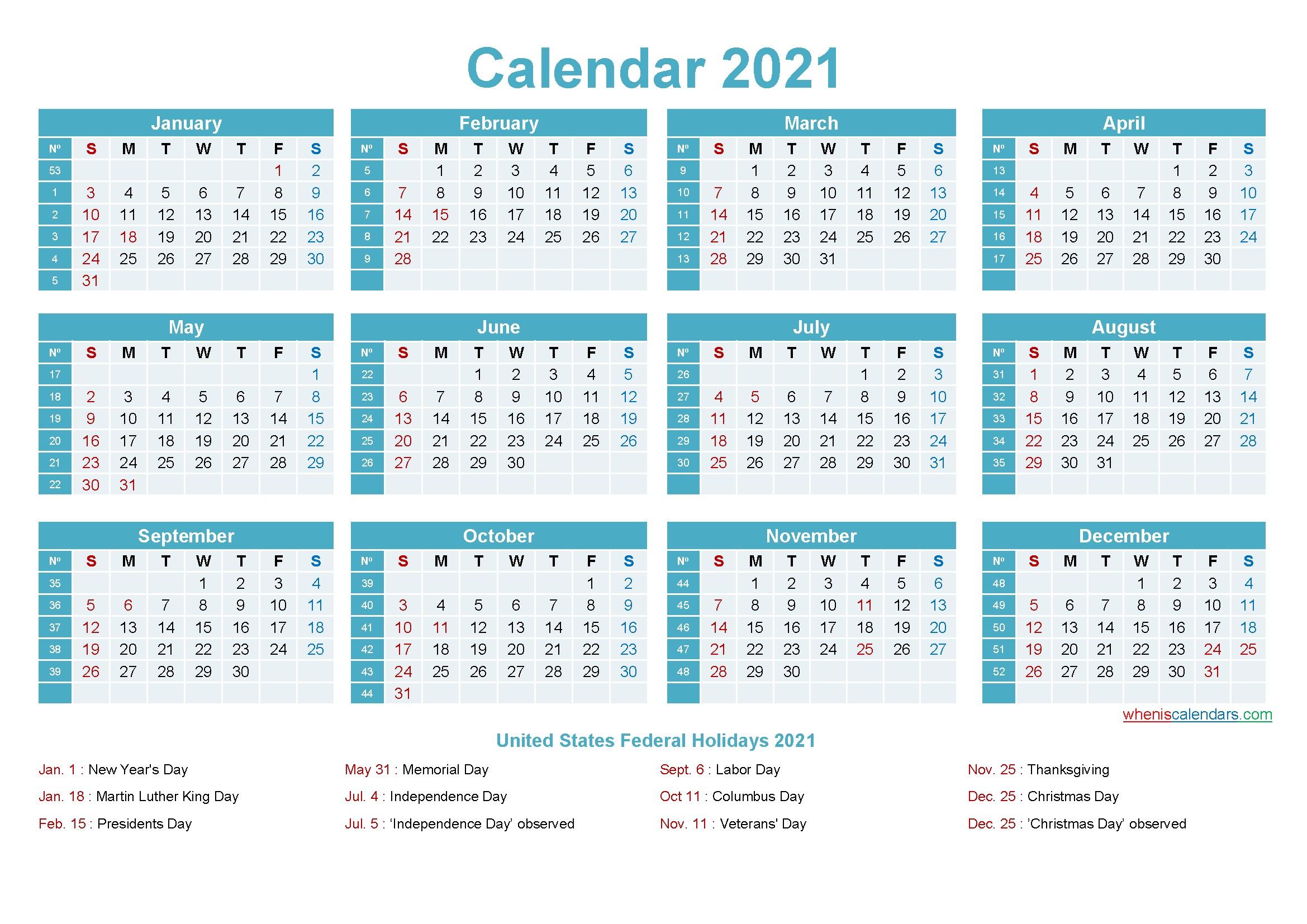 Editable Calendar Template 2021 Template No ep21y12