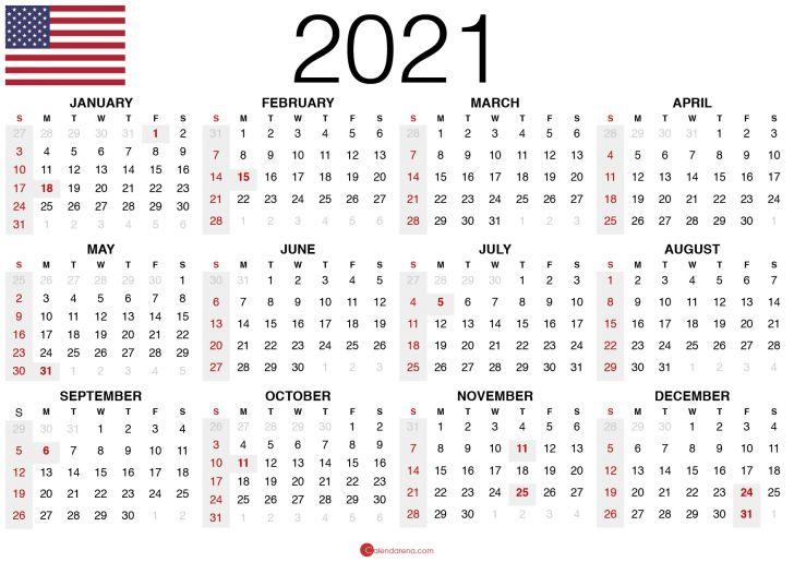 February 2021 Calendar Holidays