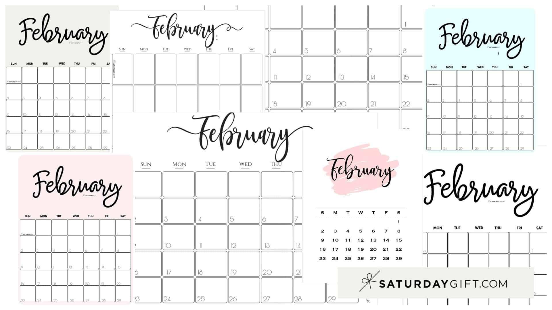 Cute & Free Printable February 2021 Calendar