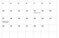 Holiday Calendar 2021 February February 2020 American Holidays Calendar