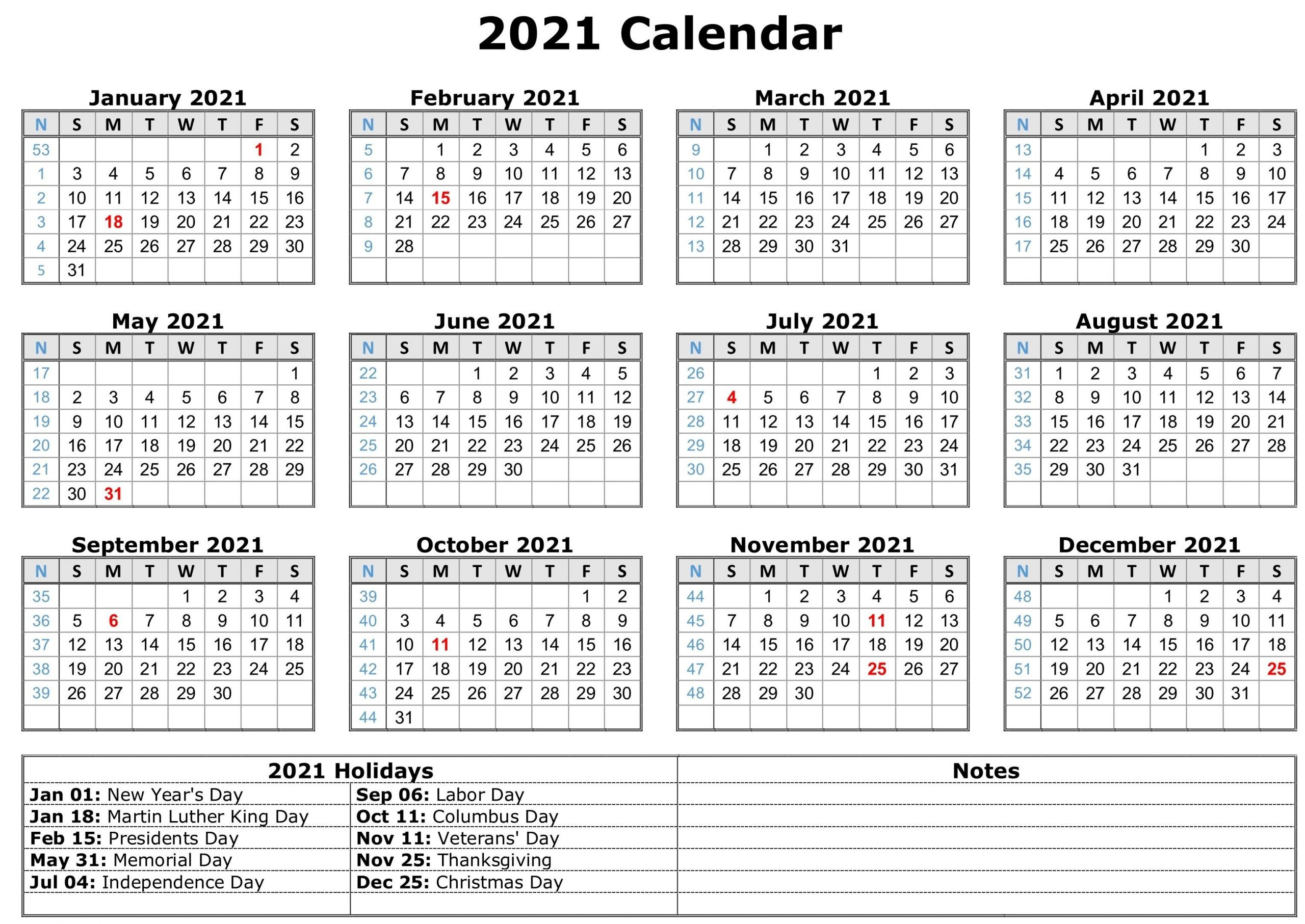 March 2021 Calendar with Holidays   Get Free Printable ...