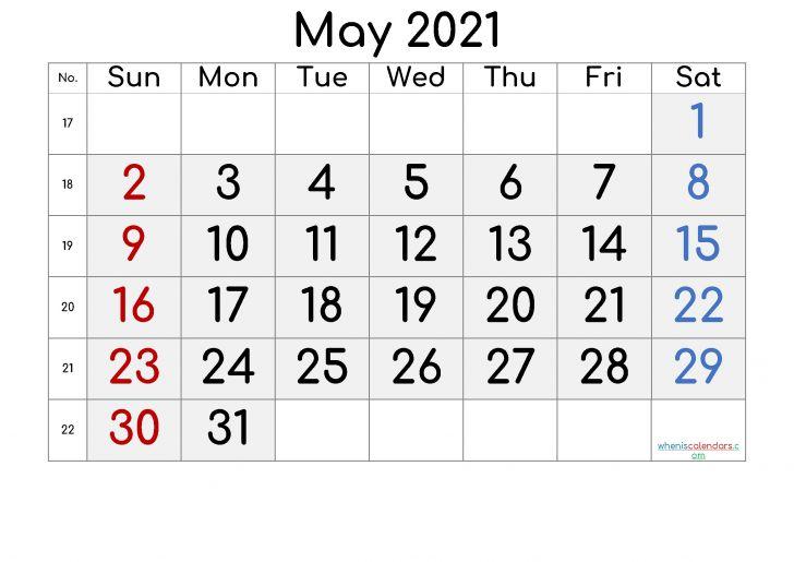 Monthly Calendar 2021 February