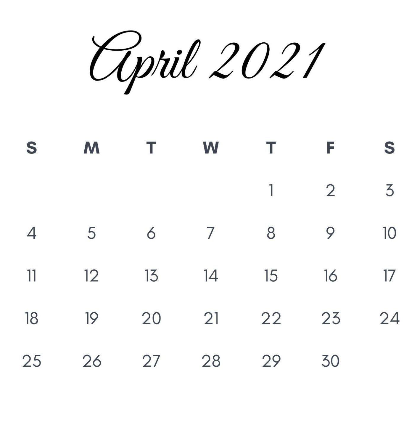 April 2021 Printable Calendar Free Printable Calendar