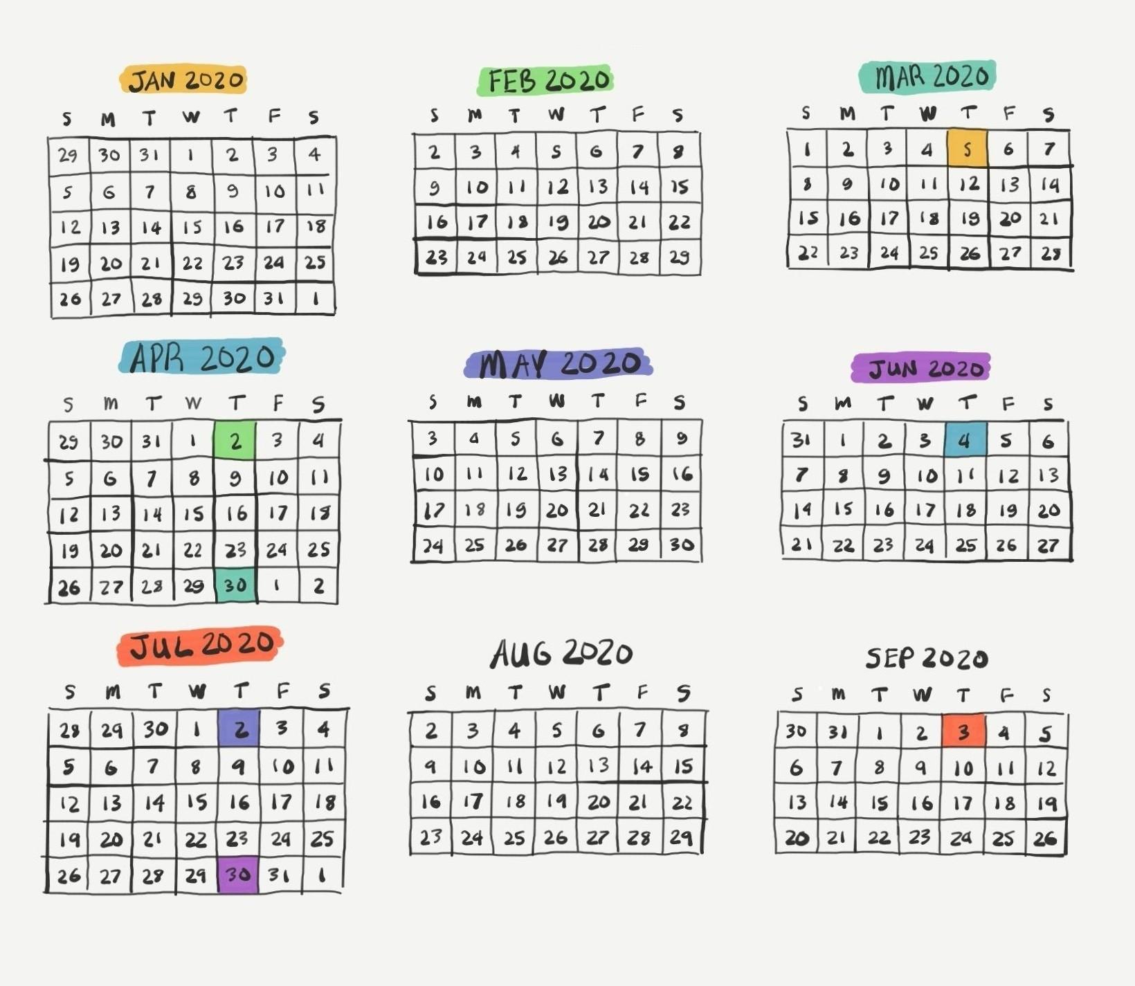 2021 Pay Period Calendar