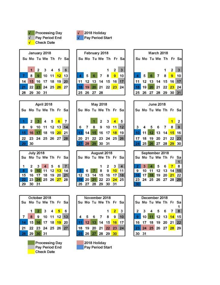 Gsa Payroll Calendar 2021