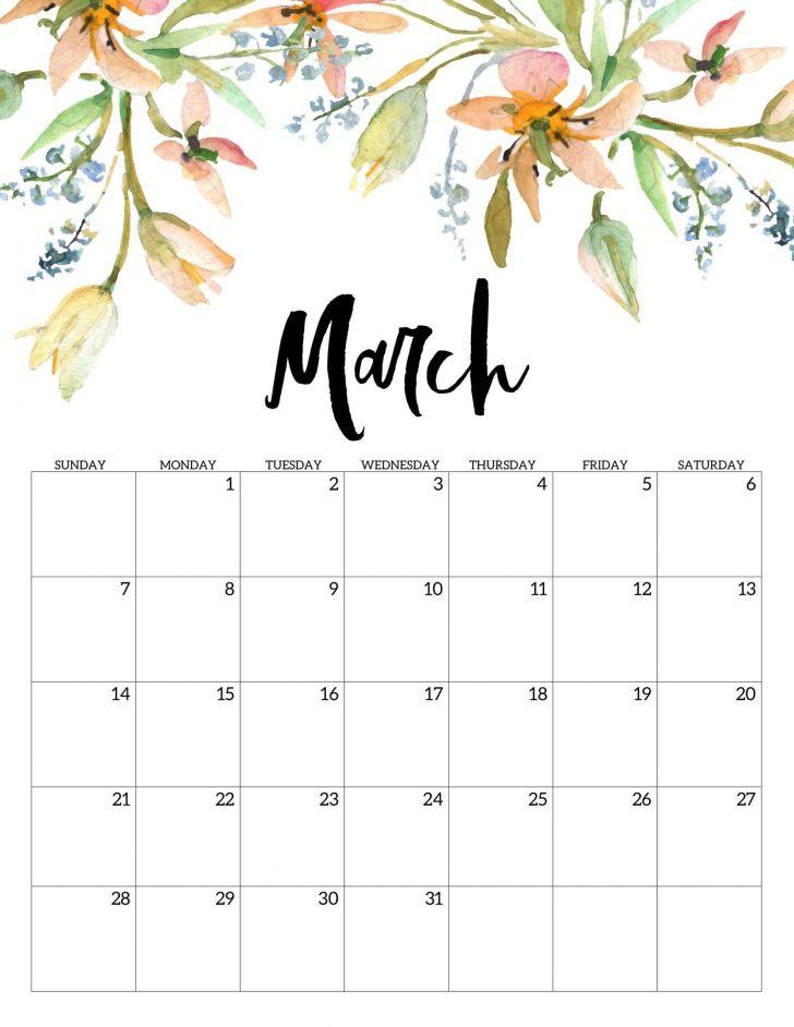 Free Calendar March 2021