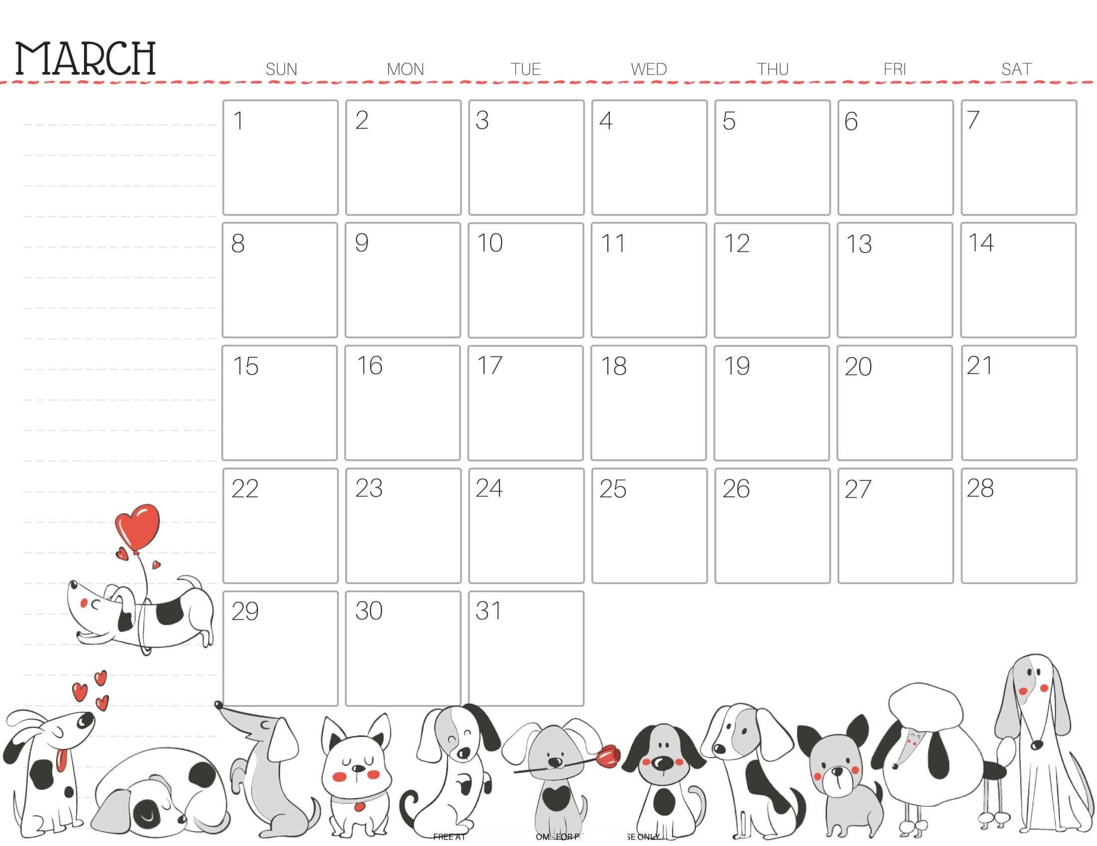March 2021 Calendar US Federal Holidays