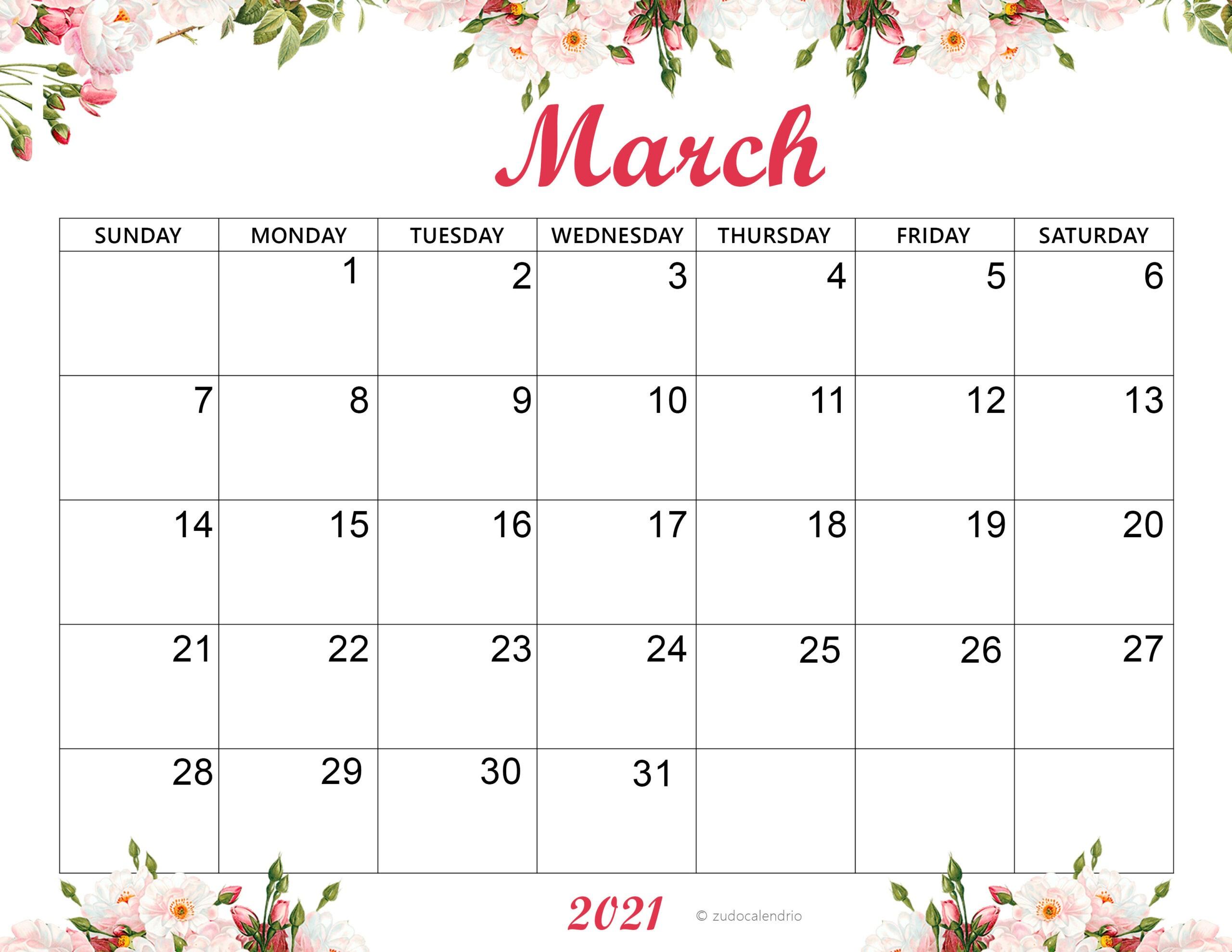 March 2021 Calendar Archives