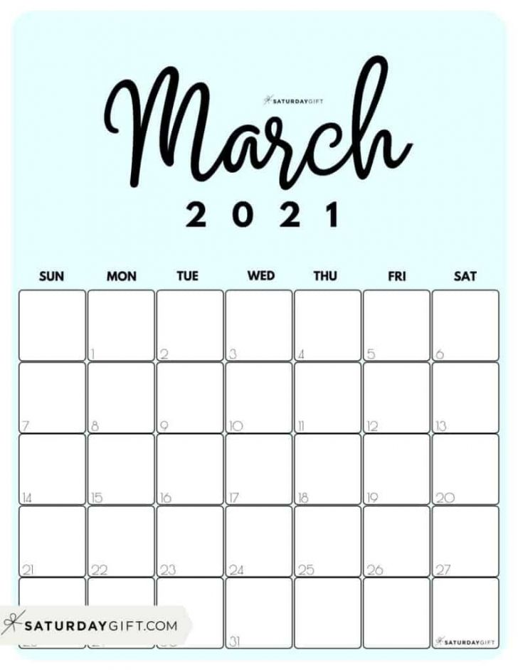 Month Of March 2021