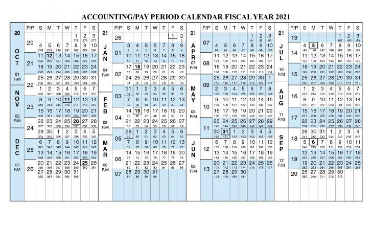 2021 Federal Pay Period Calendar