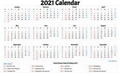 2021 Free Printable Calendar with Holidays 2021 Calendar with Federal Holidays