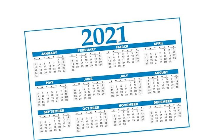 Free Calendar by Mail 2021