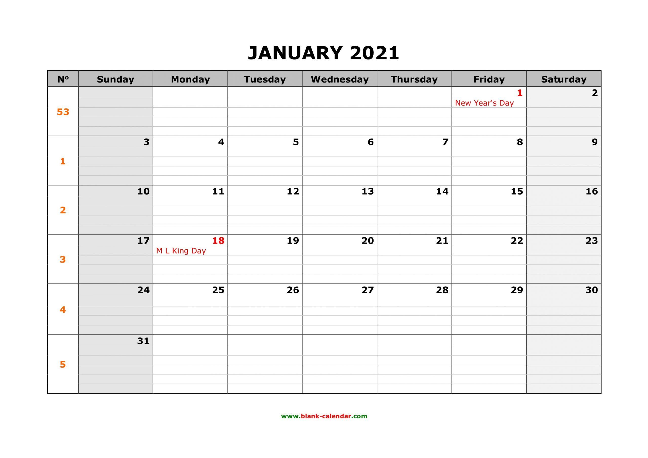 Big Calendar 2021