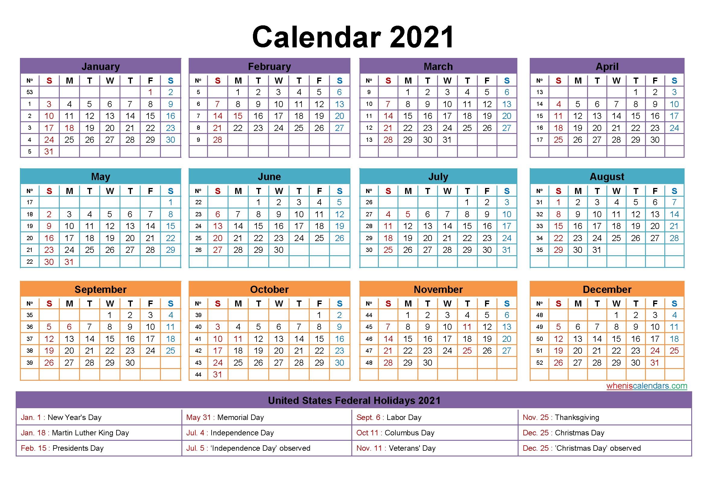 Free Editable 2021 Calendars In Word Printable Calendar