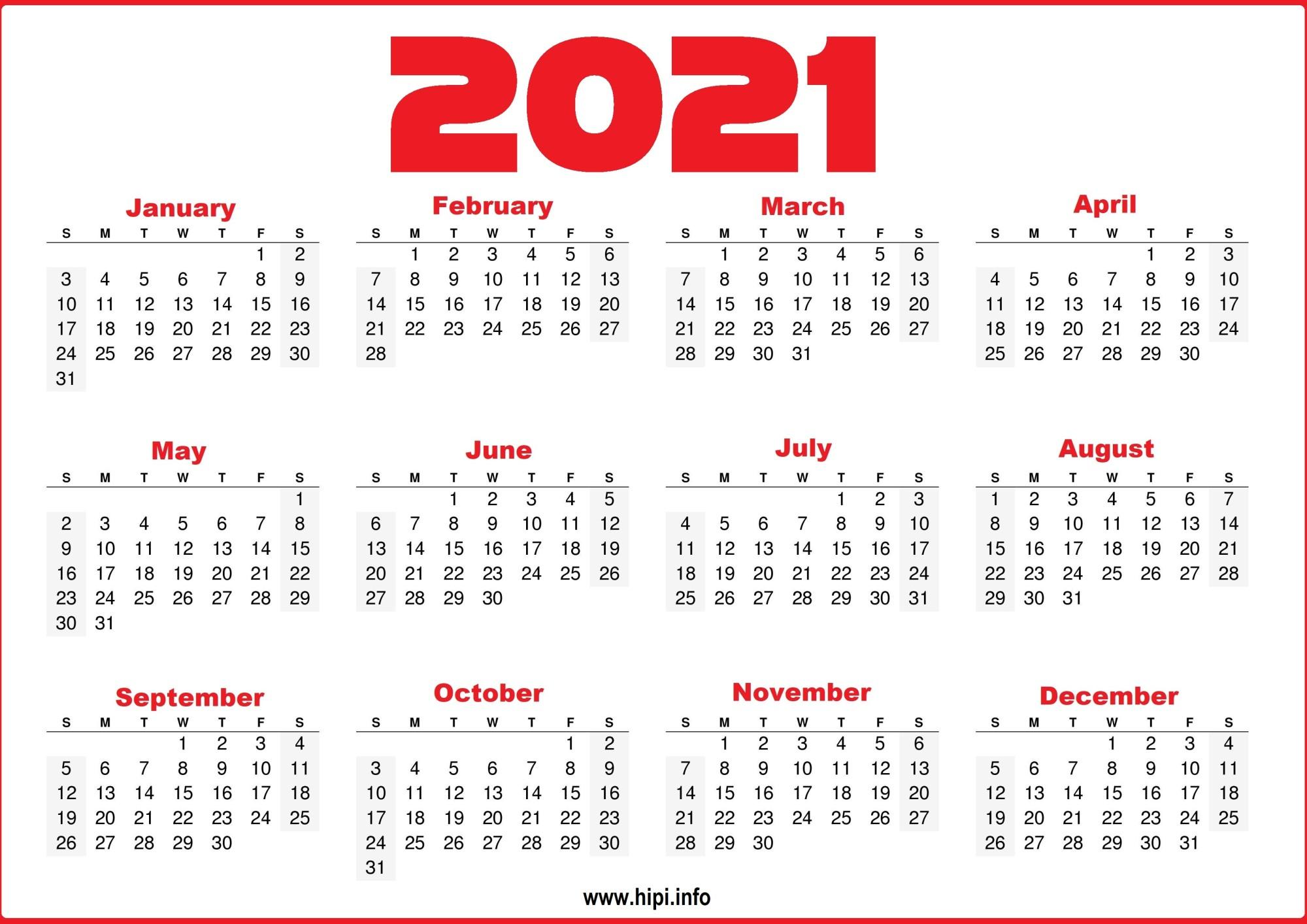 50 Best Printable Calendars 2021 Both Free and Premium