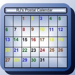 Postal Color Coded Calendar 2021